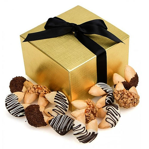 Exciting Bakery Treats with 12 Chocolate Dipped Fortune Cookies