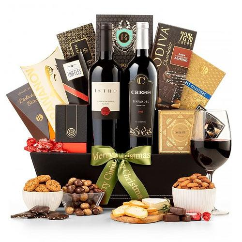 Beautiful Celebration Wine Gift Basket