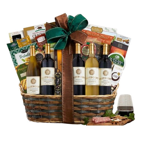 Well-Balanced Taste of Wine Lovers Gift Basket<br>