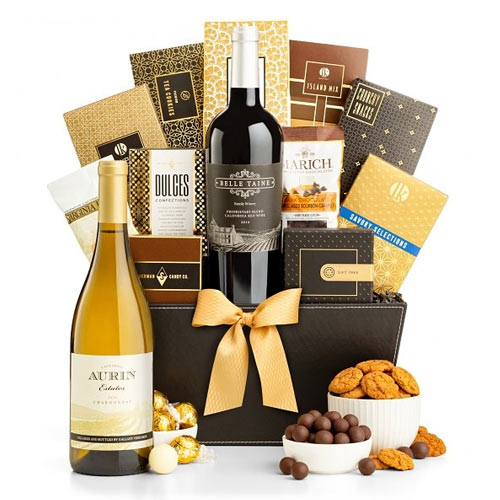 California Wine Basket Delights