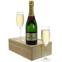 Ideal Flutes and Bottle of Champagne Gift Set