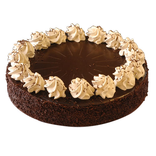 Smooth Mousse Cake Made of White and Dark Chocolates